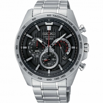 Seiko Herrenuhr SSB299P1 Armbanduhr Chronograph Uhr Silber Chrono