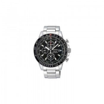 Seiko Herrenuhr SSC009P1 Solar Alarm Armbanduhr Chronograph PILOT´S