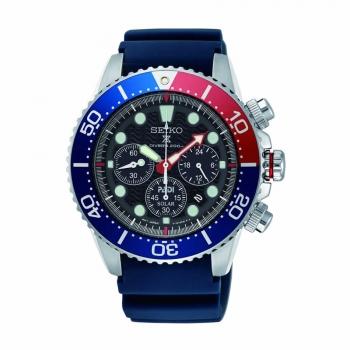 Seiko Herrenuhr SSC663P1 Solar Diver Armbanduhr Chronograph PADI