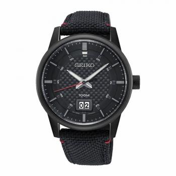 Seiko Herrenuhr SUR271P1 Armbanduhr Herren Uhr schwarz Datum
