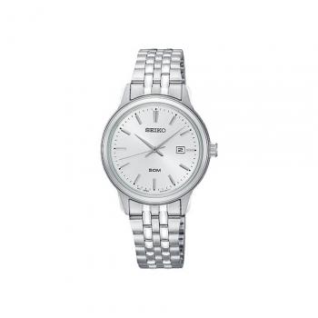 Seiko Damenuhr SUR667P1 Uhr Armbanduhr Damen Uhr Klassik Silber