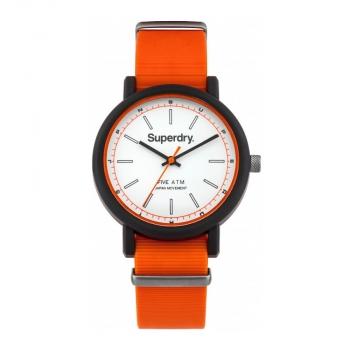 Superdry Herrenuhr SYG1970 Uhr Armbanduhr Uhr Campus Nato Orange