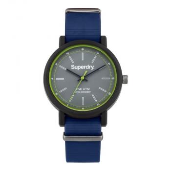 Superdry Herrenuhr SYG197U Uhr Armbanduhr Uhr Campus Nato Blue