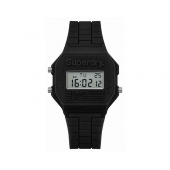 Superdry Herrenuhr SYG201B Uhr Armbanduhr Digital Retro Digitaluhr schwarz