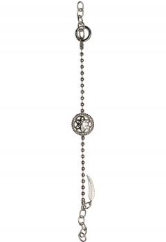 Traumfänger Damen Armband TFB02SS Silber Fußkettchen Armkette Feder