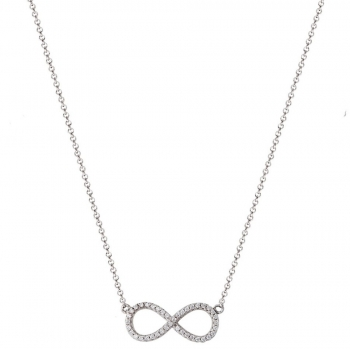 XENOX Damen Kette XS2765 Silber Collier Halskette Unendlichkeit
