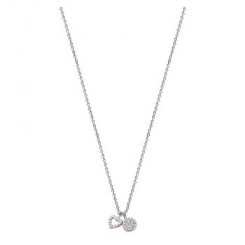 XENOX Damen Kette XS2922 Silber Herz Halskette mit Anhänger Collier