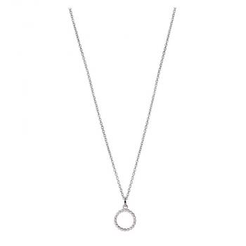 XENOX Damen Kette XS2926 Silber Kreis Halskette Kette mit Anhänger
