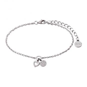 XENOX Damen Armband XS2930 Armkette Silber Herz Damenarmband