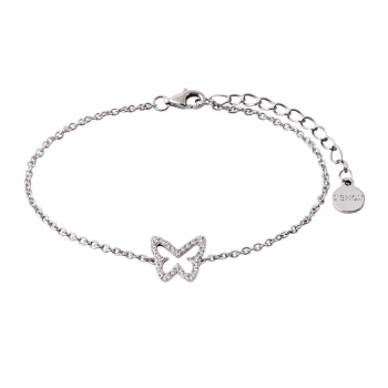 XENOX Damen Armband XS2933 Armkette Schmetterling Silber