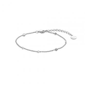 XENOX Damen Armband XS3831 Armkette Silber zartes Schmuckarmband