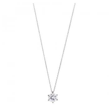 XENOX Damen Kette XS7212 Silber 45 cm Collier Halskette mit Anhänger