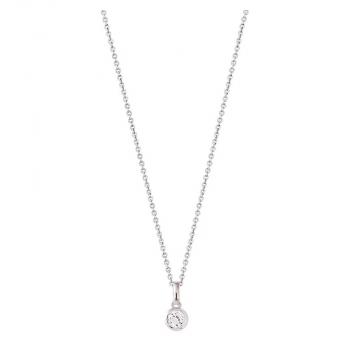 XENOX Damen Kette XS7283 Silber 45 cm Collier Halskette mit Anhänger