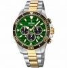Festina Herrenuhr F20363-4 Armbanduhr Uhr Chrono Bicolor Grün Hulk Sub
