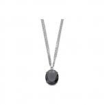 Leonardo Damen Kette 015082 Halskette Ovale grau Silber
