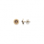 Leonardo Ohrringe 015090 Ohrstecker Matrix gold/braun