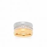 Leonardo Damenring 015779 Set/3 Ring 18 Tricolori