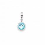 Leonardo Anhänger 015885 Charm Lenta Darlin's Clip Silber Blau + weiß