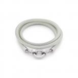 Leonardo Damen Armband 016225 Simpatia beige Darlin´s Leder Wickelarmband