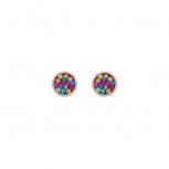 COEUR-DE-LION Ohrringe 0218211500 Kristall Pavé Multicolor Roségold  Ohrstecker