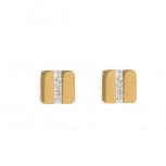 COEUR-DE-LION Ohrringe 0325211800 Pavé Kristall Gold Ohrstecker Quadrat