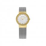 Bering Damenuhr 10126-001 Classic Silber Gold Uhr Armbanduhr