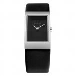 Bering Damenuhr 10222-402 Schwarz Uhr Silber Lederarmband