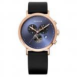 Bering Herrenuhr 10540-567 Schwarz Rosegold Uhr Chronograph