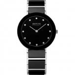 Bering Damenuhr 11435-749 Ceramic Schwarz Uhr Armbanduhr Schmuckuhr