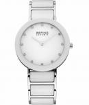 Bering Damenuhr 11435-754 Ceramic Weiß Uhr Armbanduhr Schmuckuhr