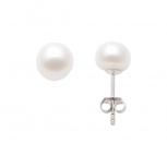 Look Ohrringe 114472 Perle Perlstecker echt Silber Ohrstecker 10 mm