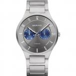 Bering Herrenuhr 11539-777 Titan Grau Uhr Antiallergisch Business