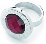 Leonardo Damenring 1164 Matrix Rot Gr.17 Silber Ring