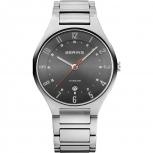 Bering Herrenuhr 11739-772 Schwarz Silber Uhr Titan Armbanduhr