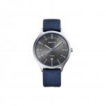 Bering Herrenuhr 11739-873 Uhr Titan Armbanduhr Nylon blau
