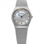 Bering Damenuhr 11927-004 Classic Silber Uhr Armbanduhr Perlmutt