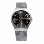 Bering Herrenuhr 11937-007 Uhr Armbanduhr Silber Titan Antiallergisch