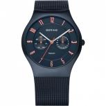 Bering Herrenuhr 11939-393 Blau Uhr Multifunction Titan