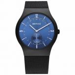 Bering Herrenuhr 11940-227 Classic Slim Herrenuhr schwarz blau Armbanduhr