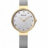 Bering Damenuhr 12034-010 Classic Silber Gold Uhr Armbanduhr