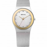 Bering Damenuhr 12927-010 Classic Silber Gold Uhr