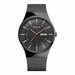 Bering Herrenuhr 12939-222 Slim Design Day Date Uhr Armbanduhr
