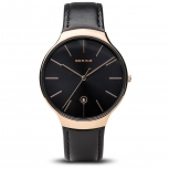 Bering Herren Armband 13338-462 Silber Grau Uhr Classic Armbanduhr