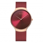 Bering Herren Armband 13338-Charity Rot Uhr Charity Armbanduhr