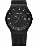 Bering Herrenuhr 14440-222 Solar Uhr Schwarz Armbanduhr Matt