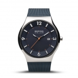 Bering Herrenuhr 14440-307 Solar Uhr Blau Armbanduhr Herren Solaruhr