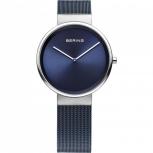 Bering Damenuhr 14531-307 Silber Blau Damen Uhr Armbanduhr