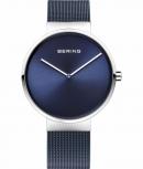 Bering Herrenuhr 14539-307 Armbanduhr Unisex Damenuhr Uhr Blau Silber