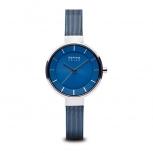 Bering Damenuhr 14631-307 Blau Silber Uhr Armbanduhr Solar