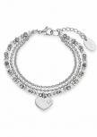 s.Oliver Damen Armband 2012530 Silber Herz Armkette Schmuckarmband